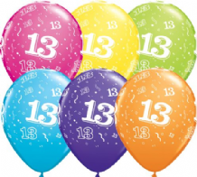 13th Birthday - 11 Inch Balloons 25pcs